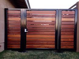 patio fence designs modern horizontal gate wood slat makeovers