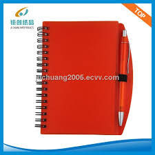 classmate note books plastic cover spiral classmate notebook with pen jc nb b1601d
