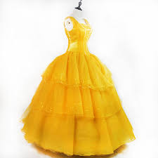 cosplay beauty and the beast princess belle costume
