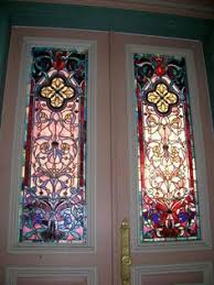 stained glass interior door an interior door design with simple pattern stained glass panel in