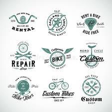 etiquetas retros ou logo templates set do vetor da bicicleta