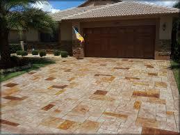Concrete Patio With Pavers Stamped Concrete U0026 Pads Driveway Patio U0026 Pool Pavers Homestead