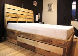 Build Your Own King Size Platform Bed With Drawers by Awesome Storage Platform Bed Plans