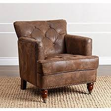 amazon com abbyson living misha tufted fabric accent chair in