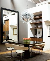 modern dining room mirrors dining room contemporary with built ins