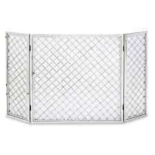 pilgrim 50 u0027 u0027 x 30 u0027 u0027 polished nickel hartwick tri panel fireplace