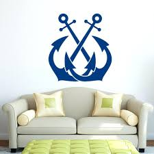 wall ideas blue led marquee anchor wall decor iron home decor anchor outdoor wall art anchor wall art etsy anchor wall art sticker anchor wall decal sticker nautical wall decor sea ocean wall stickers for kids room boy