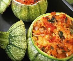 cuisiner courgette ronde courgettes rondes farcies volaille légumes l atelier de la corvette