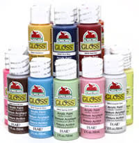 plaid apple barrel gloss paints all in one paint for outdoor art