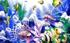 fishes sea underwater sealife fish ocean nature live wallpaper for
