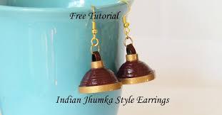 how to make jhumka earrings tutorial how to make paper quilled jhumka umbrella earrings