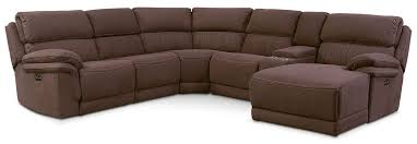Leather Sectional Sofa With Power Recliner Monterey 6 Piece Power Reclining Sectional With Right Facing