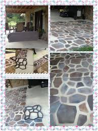 Outdoor Concrete Patio Paint Concrete Mold Flipped Upside Down And Spray Paint 1 We Painted