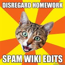 Meme Wiki - disregard homework spam wiki edits cat meme cat planet cat planet