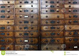 Antique Wood File Cabinets by Old Archive Drawers Cabinet Royalty Free Stock Images Image