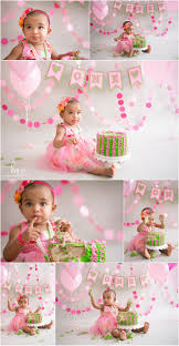 baby birthday themes pink and green 1st birthday theme pink cake smash session cake
