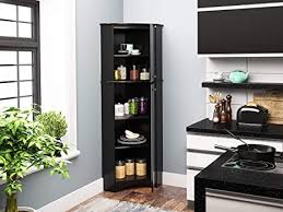 corner storage cabinet in kitchen prepac elite corner storage cabinet 2 door black