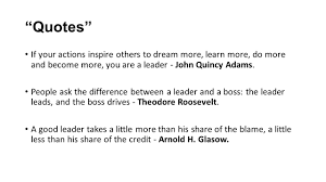 quotes about leadership and helping others keys to good leadership ppt video online download