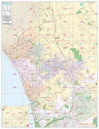 california map san diego san diego ca wall map by brothers maps from