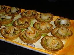 cuisiner corail jacques recette mini tartelettes fondue de poireaux noix de