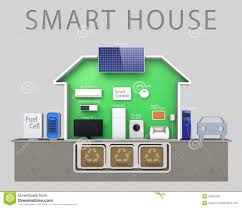 Energy Efficient Homes Floor Plans Energy Efficient Smart House Illustration With Tex Royalty Free