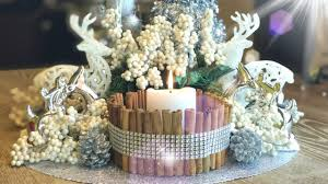 rustic glam centerpiece diy christmas decorations youtube