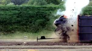 world u0027s fastest ever crash test car smashes into wall at 120mph