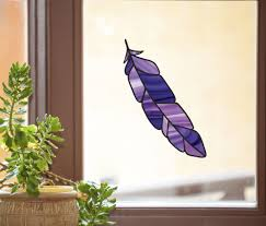 See Through Window Graphics Clr Wnd Stained Glass Feather Bird Feathers See Through