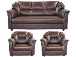 Sofa Set Buy Online India Westido Manhattan Brown 3 1 1 Seater Sofa Set Buy Westido