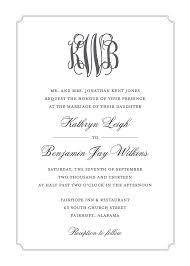 monogram wedding invitations monogram wedding invitations blueklip