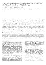 virtual building maintenance pdf download available