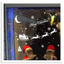 Christmas Window Decorations by Aliexpress Com Buy Christmas Decorations Vinyl Wall Window