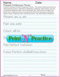 verb tenses worksheets past present future simple perfect