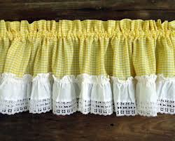 Sunflower Valance Kitchen Curtains by 42 Best Window Treatments Images On Pinterest Curtains Vintage