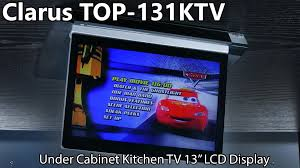 kitchen under cabinet tv