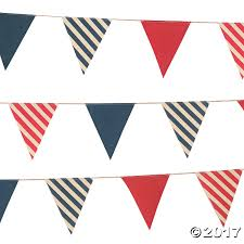 halloween pennant banner nautical fabric pennant banner