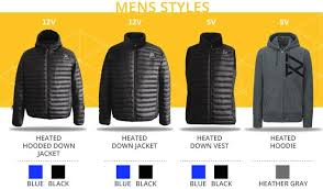 the world u0027s first heated down jacket w 6x mobile charging by