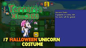 terraria xbox 360 7 halloween unicorn costume youtube