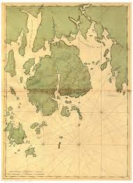 Map Of Maine Coast File Mount Desert Island And Neighboring Coast Of Maine