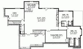 4 bedroom house plans with basement smart placement 4 bedroom house plans with basement ideas house