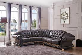 Versace Living Room Furniture Versace Lf Brown Sectional Sofa Versace Esf Furniture Sectional