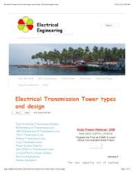 electrical transmission tower types and design electrical