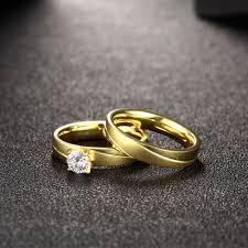 korean wedding rings fashion rings women korean geometry gold plated stainless steel