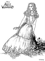 kids fun 11 coloring pages alice wonderland tim burton