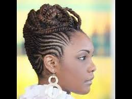 cornrow hairstyles for black women with part in the middle best cornrow updo hairstyles for black women youtube