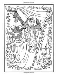 wizard coloring pages adults wondrous wizards dover