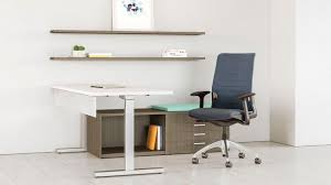 Height Adjustable Desks by Wooden Desk Contemporary Commercial Height Adjustable