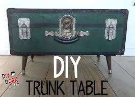 trunk coffee table diy how to make an awesome vintage trunk table vintage trunk table diy