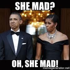 she mad oh she mad barack obama umad meme generator
