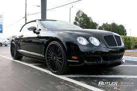 black bentley sedan bentley continental gt c with 22in tsw turbina wheels exclusively